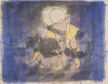 Image: Ludwig Hirschfeld-Mack (1893–1965) 'Preparing' 1959 monotype with watercolour The University of Melbourne Art Collection. Gift of Mrs Olive Hirschfeld 1971 © Estate of the artist