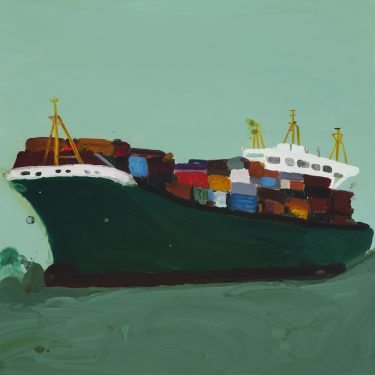 Richard Lewer,Elbwolf,2011 oil on canvas Courtesy of the artist and Hugo Michell Gallery, Adelaide