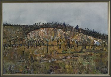 Fred Williams 'Quarry, Ferntree Gully' 1978 oil on canvas The University of Melbourne Art Collection. Purchased by Melbourne State College 1979 © Estate of the artist