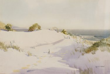 Harold Herbert  'Golden sands' 1928 watercolour on paper The University of Melbourne Art Collection. Gift of Dr Samuel Arthur Ewing 1938